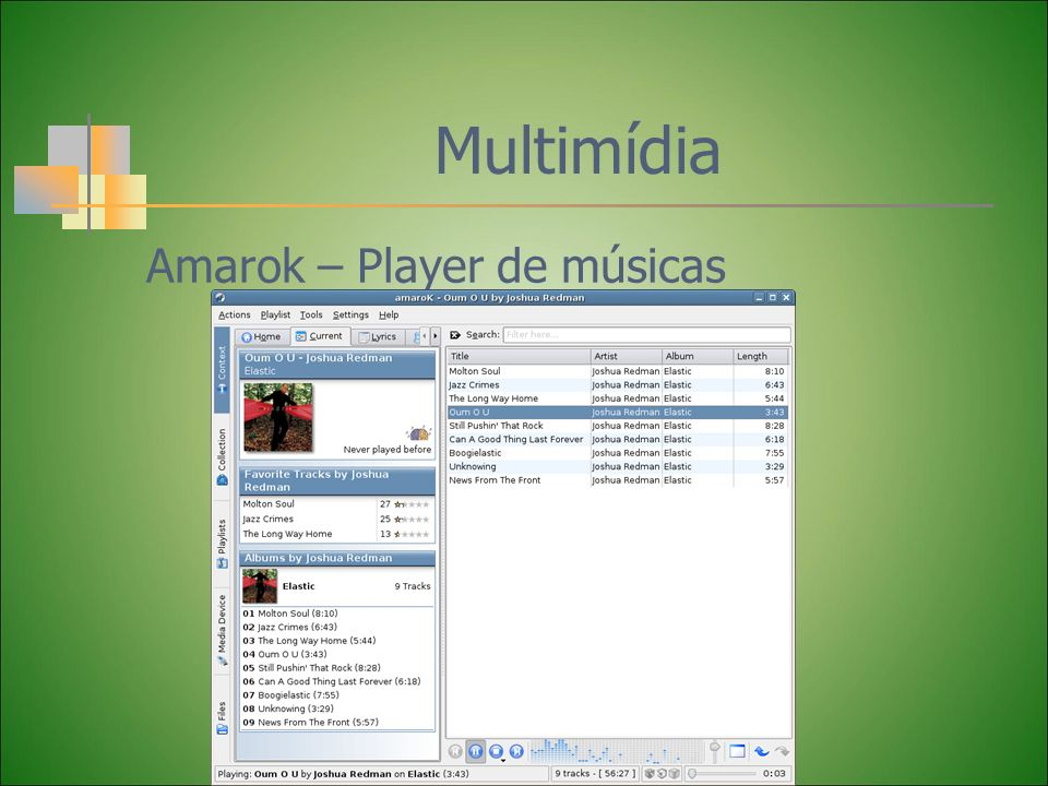 Multimídia Amarok – Player de músicas