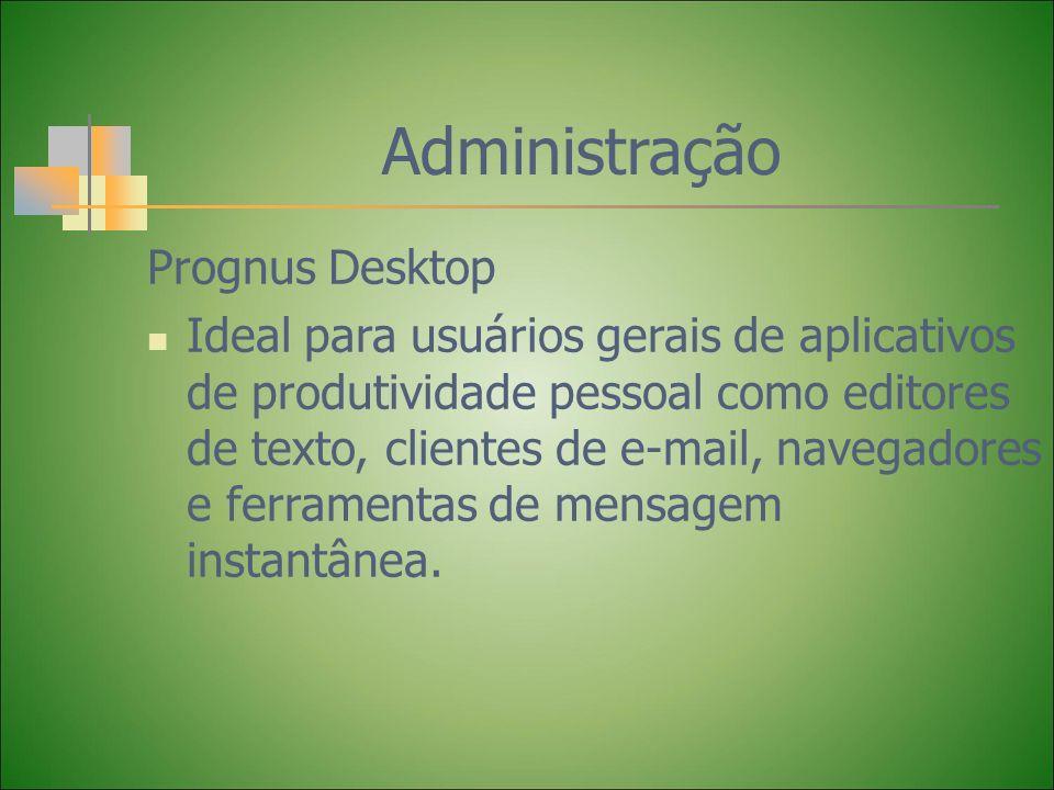 Administração Prognus Desktop Ideal para usuários gerais de aplicativos de produtividade pessoal como editores de texto, clientes de e-mail, navegador