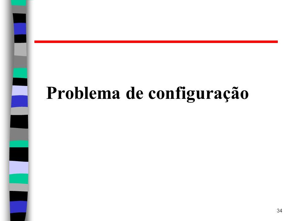 34 Problema de configuração