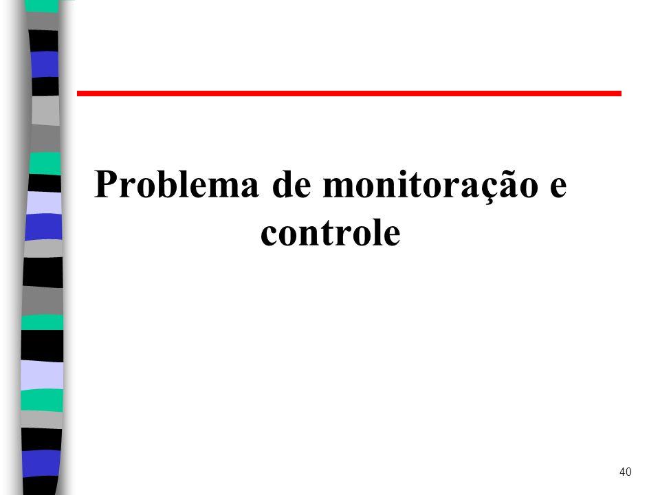 40 Problema de monitoração e controle