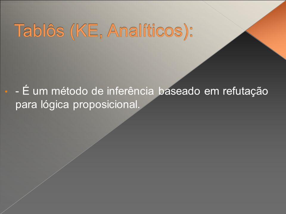 - É um método de inferência baseado em refutação para lógica proposicional.