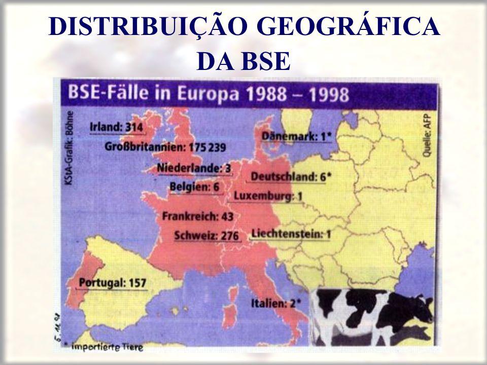 DISTRIBUIÇÃO GEOGRÁFICA DA BSE