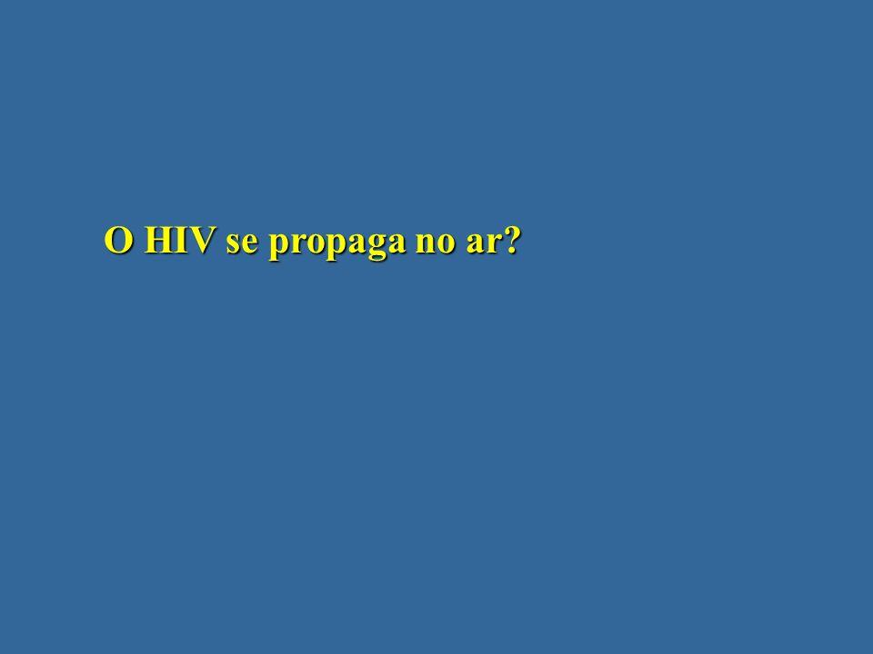 O HIV se propaga no ar?