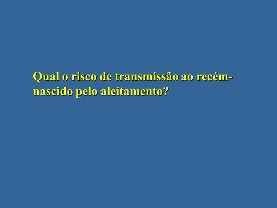Qual o risco de transmissão ao recém- nascido pelo aleitamento?