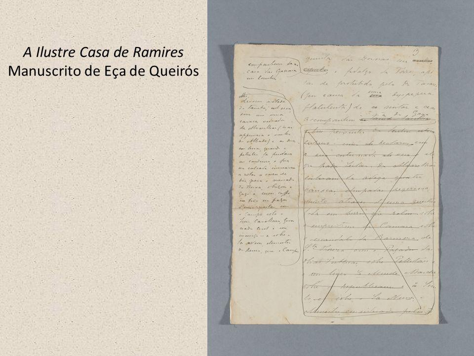 A Ilustre Casa de Ramires Manuscrito de Eça de Queirós