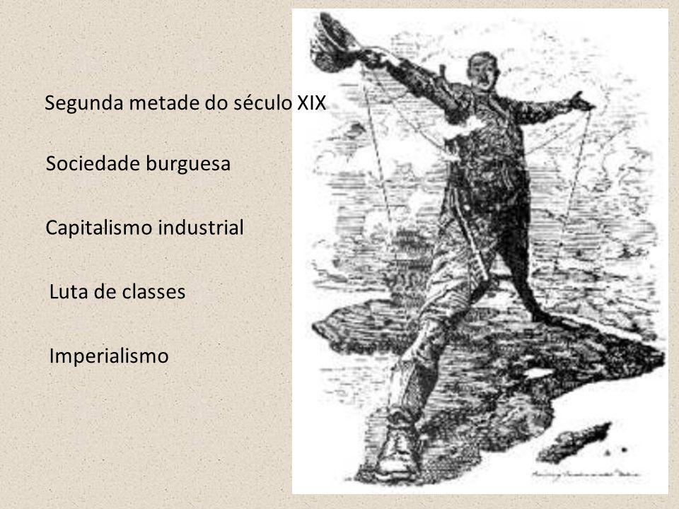 Sociedade burguesa Luta de classes Imperialismo Capitalismo industrial Segunda metade do século XIX