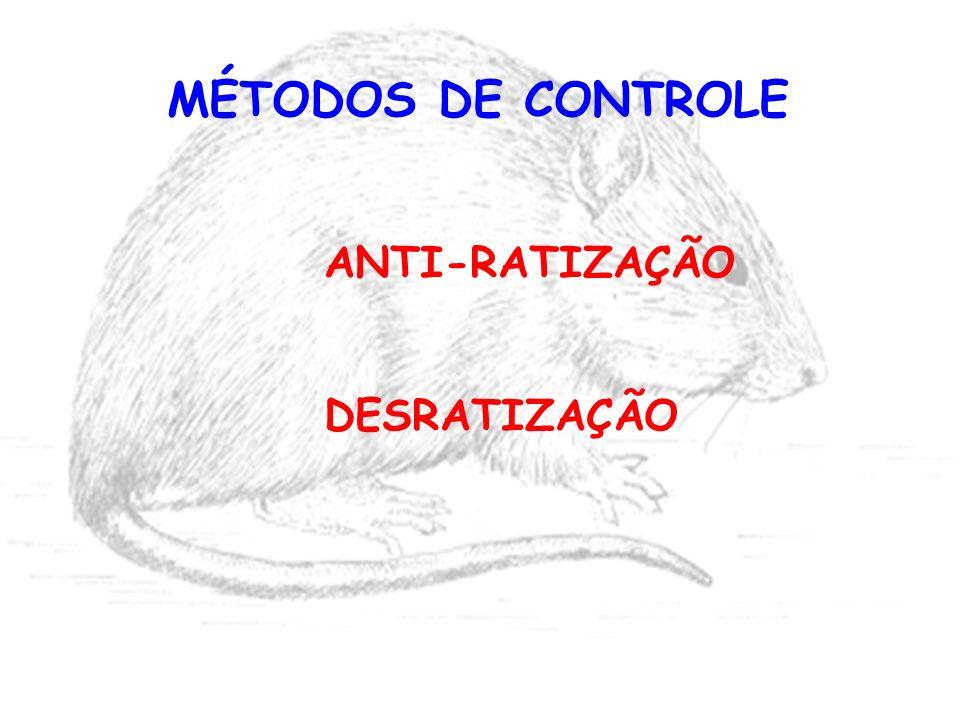 MÉTODOS DE CONTROLE ANTI-RATIZAÇÃO DESRATIZAÇÃO
