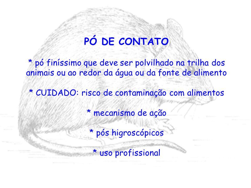 PÓ DE CONTATO * pó finíssimo que deve ser polvilhado na trilha dos animais ou ao redor da água ou da fonte de alimento * CUIDADO: risco de contaminaçã