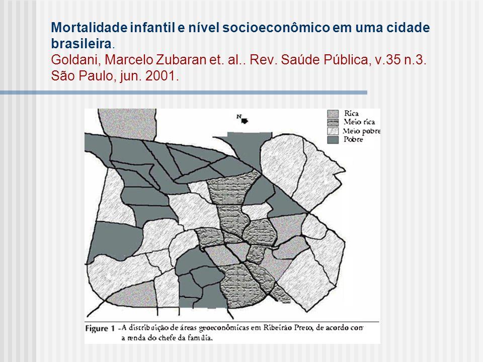 Mortalidade infantil e nível socioeconômico em uma cidade brasileira.