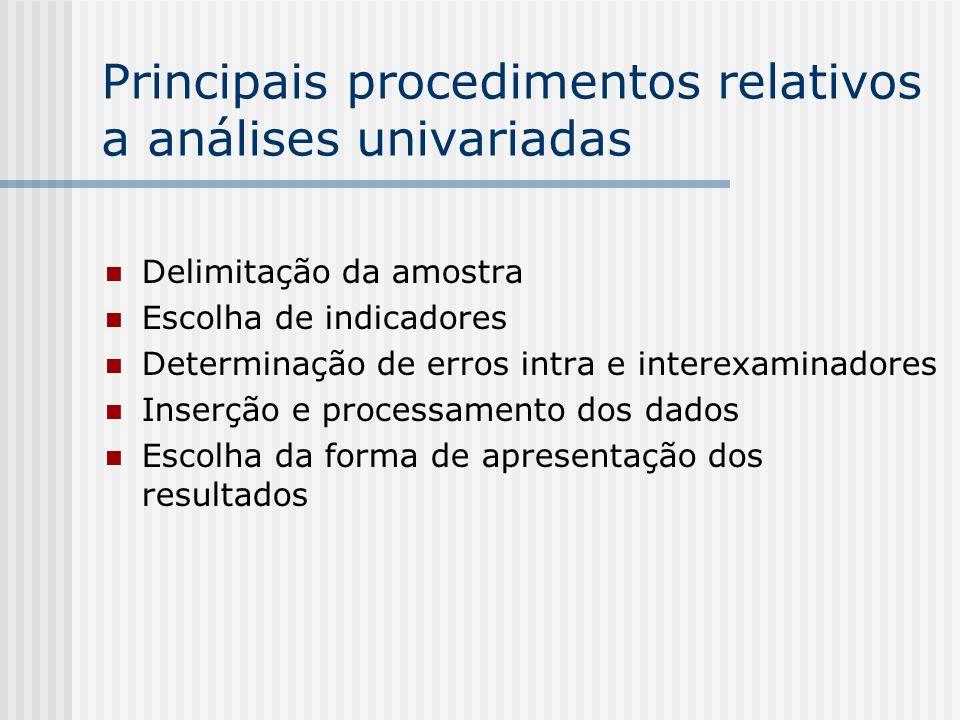 Principais fórmulas estatísticas