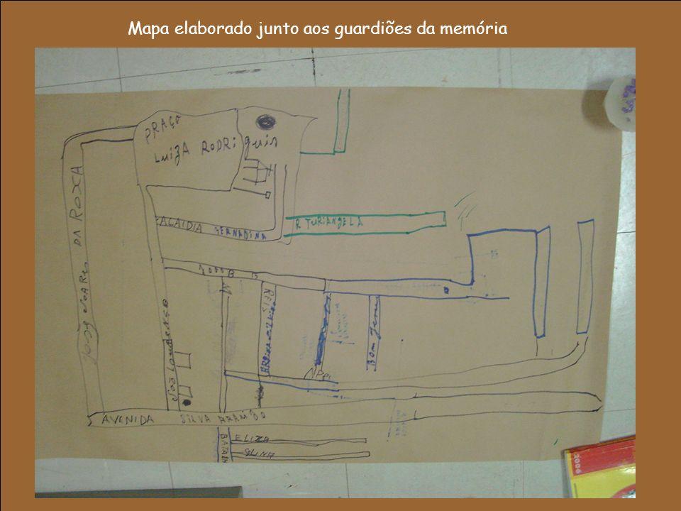 Mapa elaborado junto aos guardiões da memória