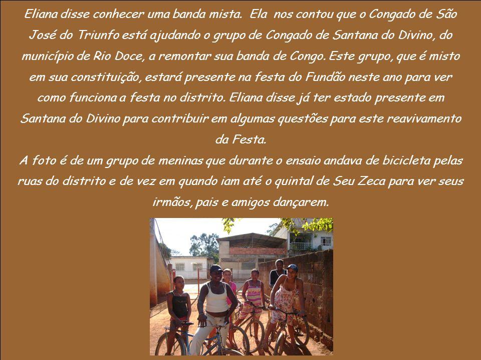 No mapeamento estavam presentes Dona Regina (esposa de Seu Dola), Dona Ana (esposa de Seu Zeca), Eliana (filha de Seu Zeca), Dona Maria José (Rainha Conga) e uma senhora que acompanhava Dona Maria.