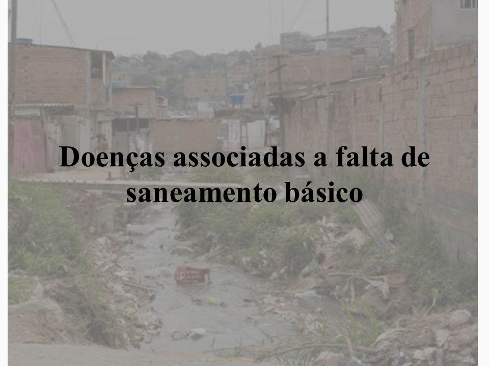 Conceito Saneamento é o conjunto de medidas, visando a preservar ou modificar as condições do ambiente com a finalidade de prevenir doenças e promover a saúde Saneamento básico –Água –Esgoto –Lixo