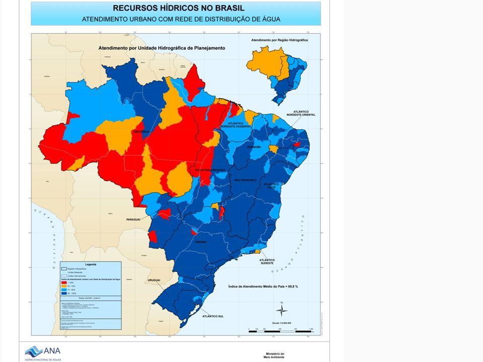 Doenças infecciosas relacionadas com a água Agentes transportados pela água contaminada Cólera, diarréias, febre tifoide, hepatite A, esquistossomose...