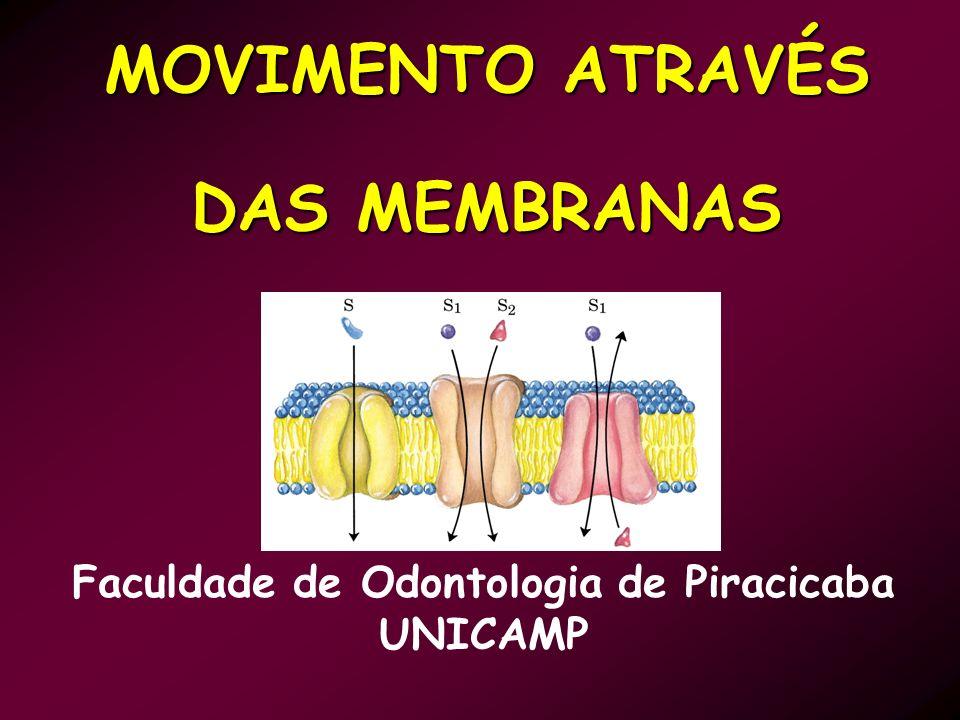 MOVIMENTO ATRAVÉS DAS MEMBRANAS Faculdade de Odontologia de Piracicaba UNICAMP