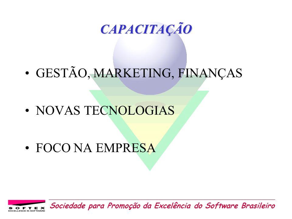 Sociedade para Promoção da Excelência do Software Brasileiro CAPACITAÇÃO GESTÃO, MARKETING, FINANÇAS NOVAS TECNOLOGIAS FOCO NA EMPRESA