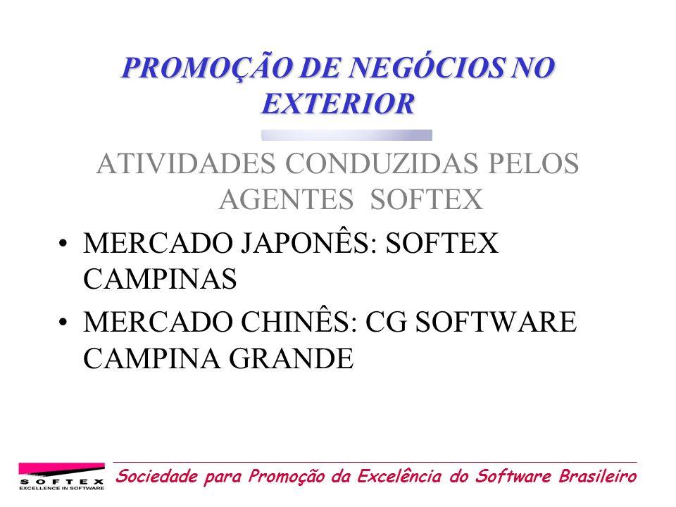 Sociedade para Promoção da Excelência do Software Brasileiro PROMOÇÃO DE NEGÓCIOS NO EXTERIOR ATIVIDADES CONDUZIDAS PELOS AGENTES SOFTEX MERCADO JAPON