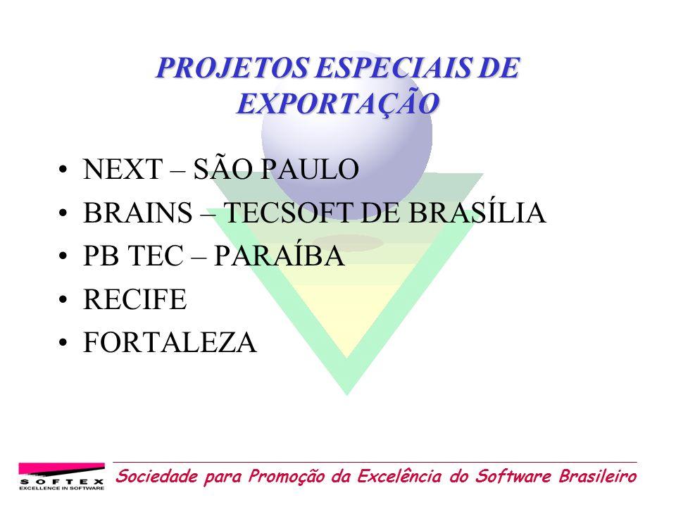 Sociedade para Promoção da Excelência do Software Brasileiro PROJETOS ESPECIAIS DE EXPORTAÇÃO NEXT – SÃO PAULO BRAINS – TECSOFT DE BRASÍLIA PB TEC – P