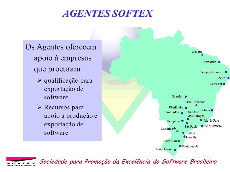 Sociedade para Promoção da Excelência do Software Brasileiro Os Agentes oferecem apoio à empresas que procuram : qualificação para exportação de softw