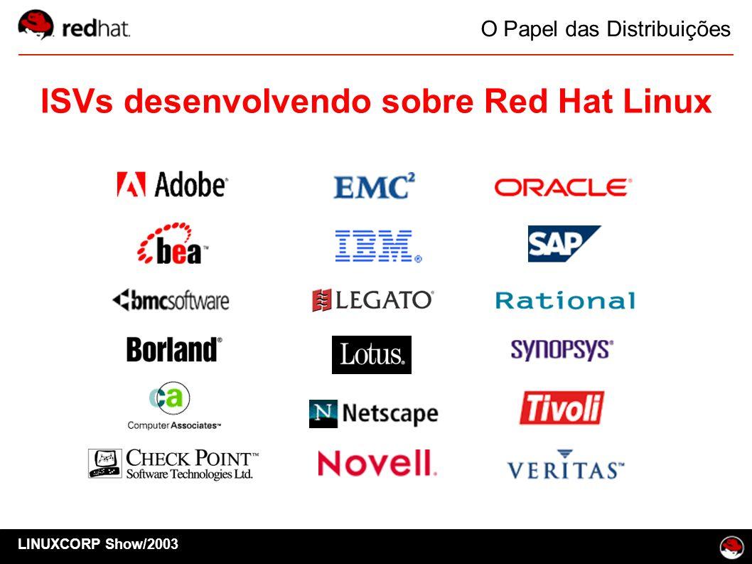 LINUXCORP Show/2003 O Papel das Distribuições ISVs desenvolvendo sobre Red Hat Linux