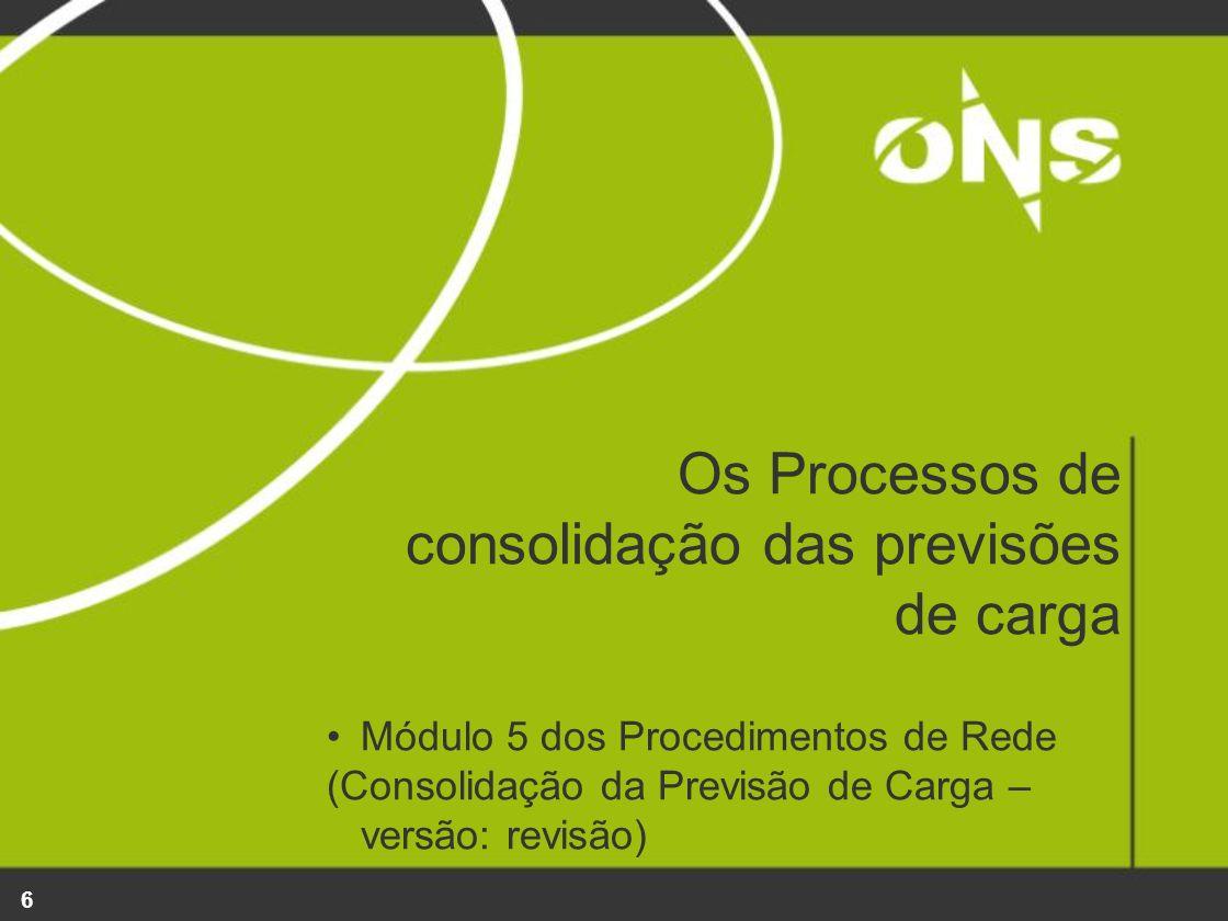 6 Os Processos de consolidação das previsões de carga Módulo 5 dos Procedimentos de Rede (Consolidação da Previsão de Carga – versão: revisão)