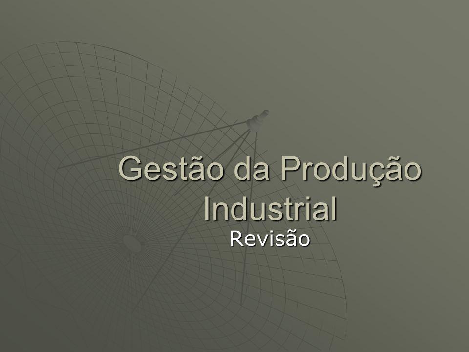 Gestão da Produção Industrial Revisão