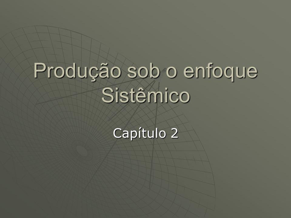 Produção sob o enfoque Sistêmico Capítulo 2