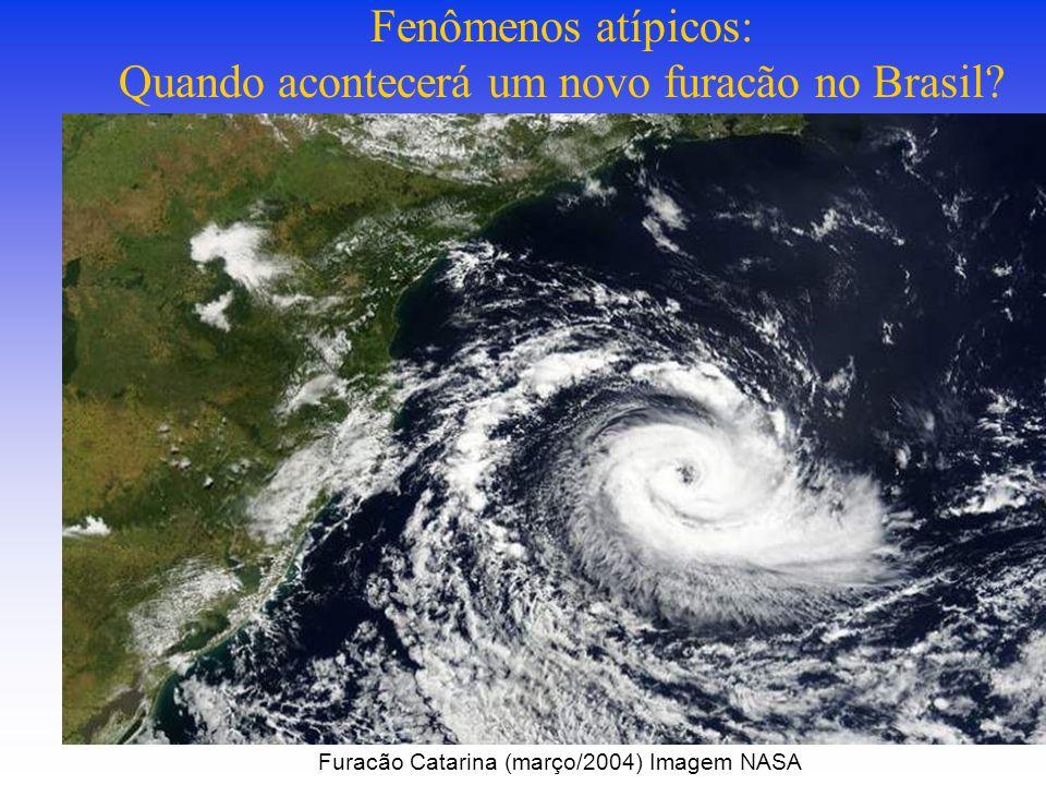 Fenômenos atípicos: Quando acontecerá um novo furacão no Brasil.