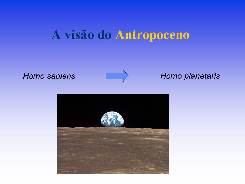 A visão do Antropoceno Homo planetarisHomo sapiens