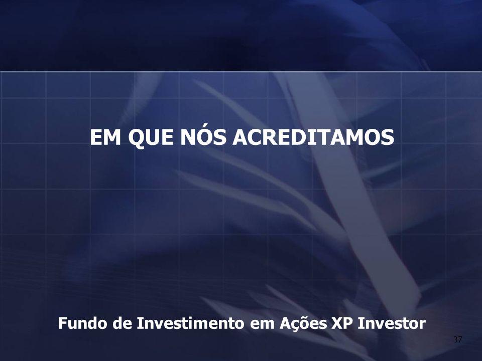 37 EM QUE NÓS ACREDITAMOS Fundo de Investimento em Ações XP Investor