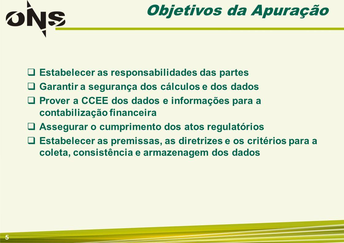 5 Estabelecer as responsabilidades das partes Garantir a segurança dos cálculos e dos dados Prover a CCEE dos dados e informações para a contabilizaçã