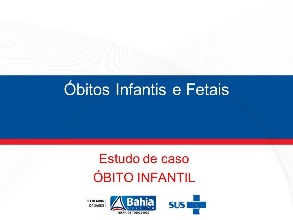 Óbitos Infantis e Fetais Estudo de caso ÓBITO INFANTIL ÓBITO FETAL