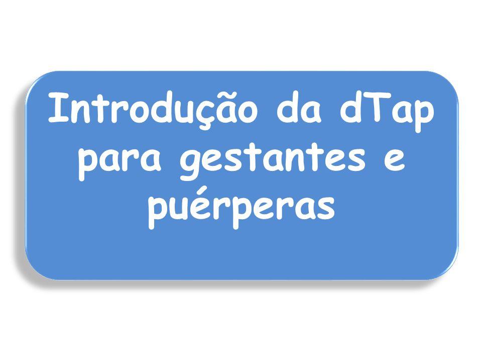 Introdução da dTap para gestantes e puérperas