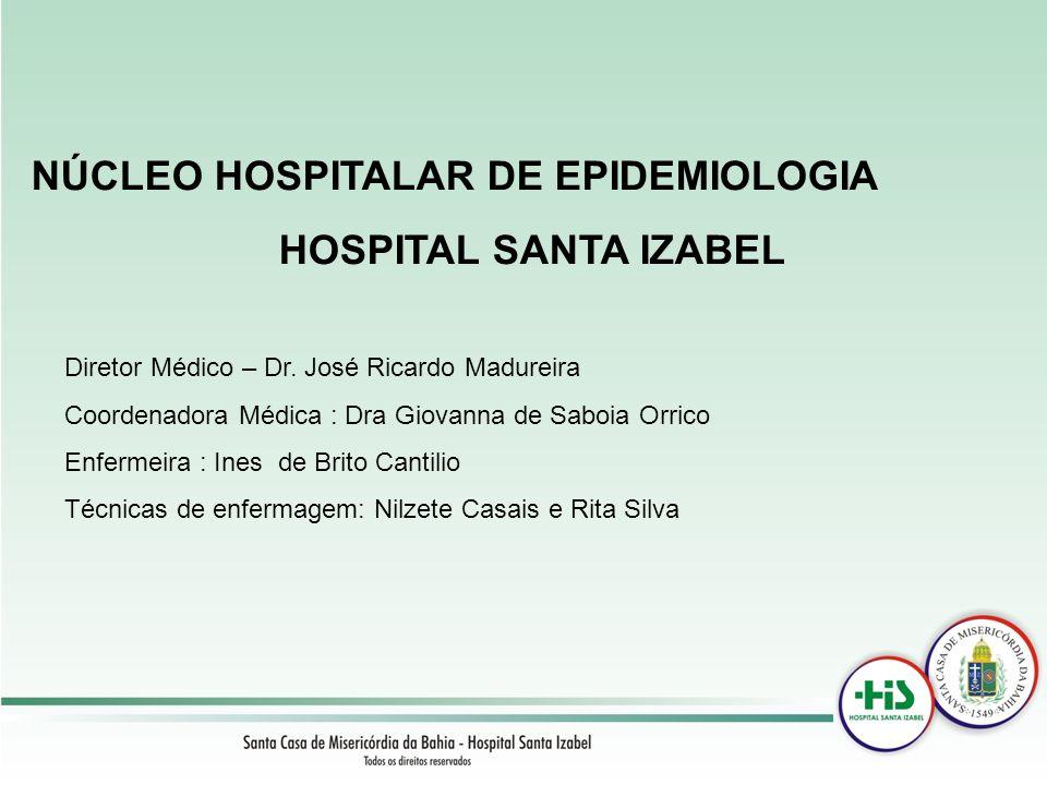 NÚCLEO HOSPITALAR DE EPIDEMIOLOGIA HOSPITAL SANTA IZABEL Diretor Médico – Dr. José Ricardo Madureira Coordenadora Médica : Dra Giovanna de Saboia Orri