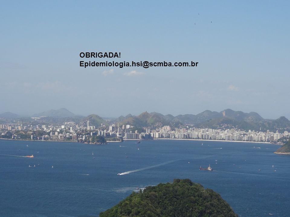 OBRIGADA! Epidemiologia.hsi@scmba.com.br