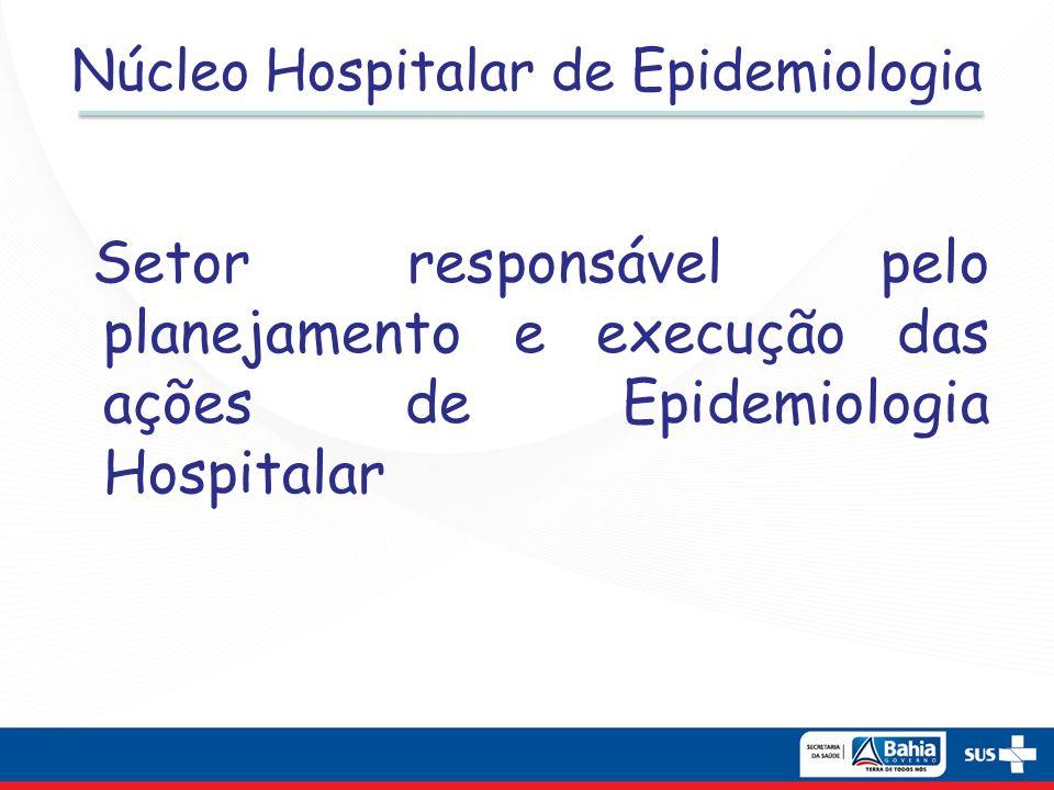 Núcleo Hospitalar de Epidemiologia Setor responsável pelo planejamento e execução das ações de Epidemiologia Hospitalar