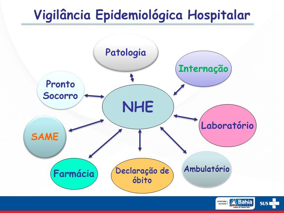 Vigilância Epidemiológica Hospitalar NHE Pronto Socorro Pronto Socorro Internação SAME Laboratório Farmácia Ambulatório Patologia Declaração de óbito