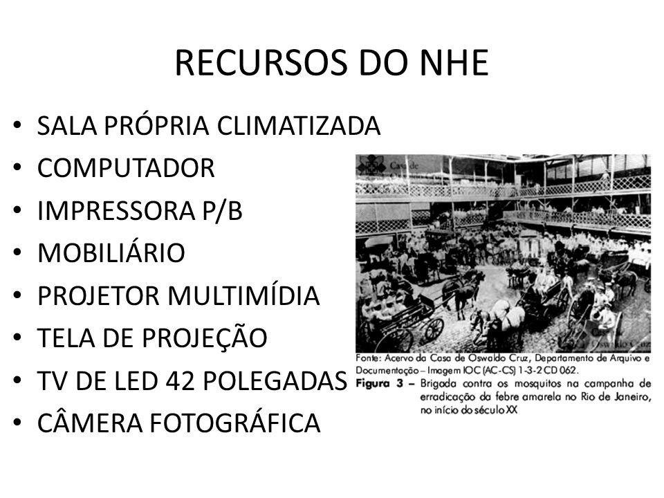 RECURSOS DO NHE SALA PRÓPRIA CLIMATIZADA COMPUTADOR IMPRESSORA P/B MOBILIÁRIO PROJETOR MULTIMÍDIA TELA DE PROJEÇÃO TV DE LED 42 POLEGADAS CÂMERA FOTOG