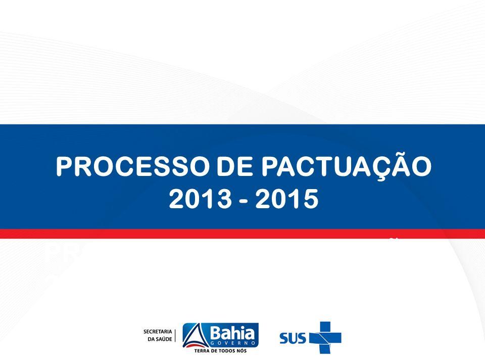PROCESSO DE PACTUAÇÃO 2013-2015 PROCESSO DE PACTUAÇÃO 2013 - 2015