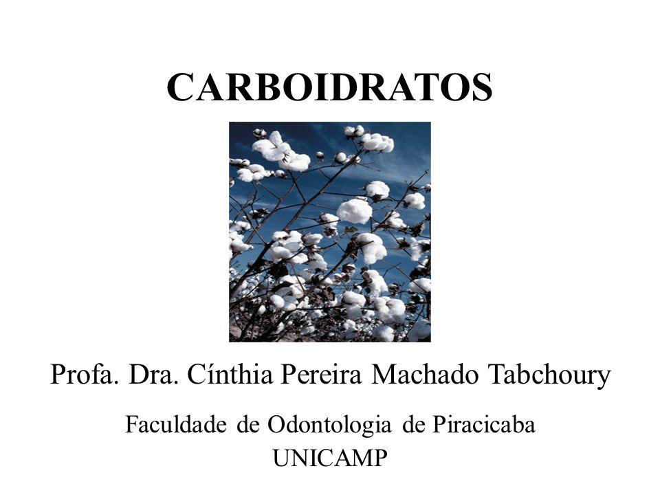 CARBOIDRATOS Faculdade de Odontologia de Piracicaba UNICAMP Profa. Dra. Cínthia Pereira Machado Tabchoury
