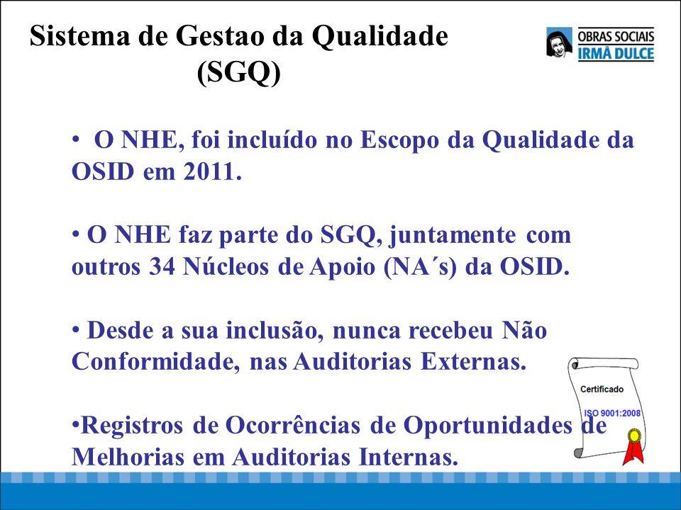 O NHE, foi incluído no Escopo da Qualidade da OSID em 2011. O NHE faz parte do SGQ, juntamente com outros 34 Núcleos de Apoio (NA´s) da OSID. Desde a