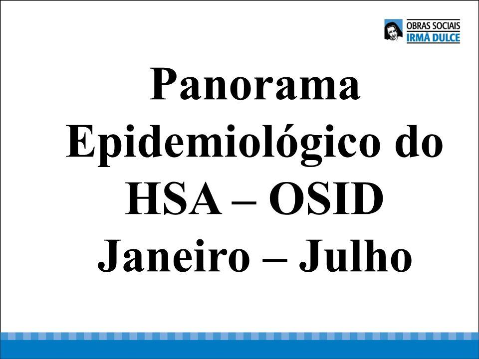 Panorama Epidemiológico do HSA – OSID Janeiro – Julho