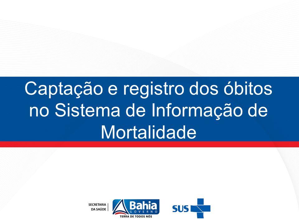 Captação e registro dos óbitos no Sistema de Informação de Mortalidade