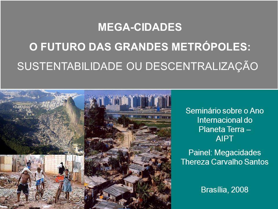 Padrão de Consumo e Degradação Urbana no Brasil Os problemas de poluição se alteram com as mudanças no padrão de consumo que, no caso brasileiro, ocorreram de forma acelerada juntamente com a urbanização e uma distribuição de renda muito desigual.