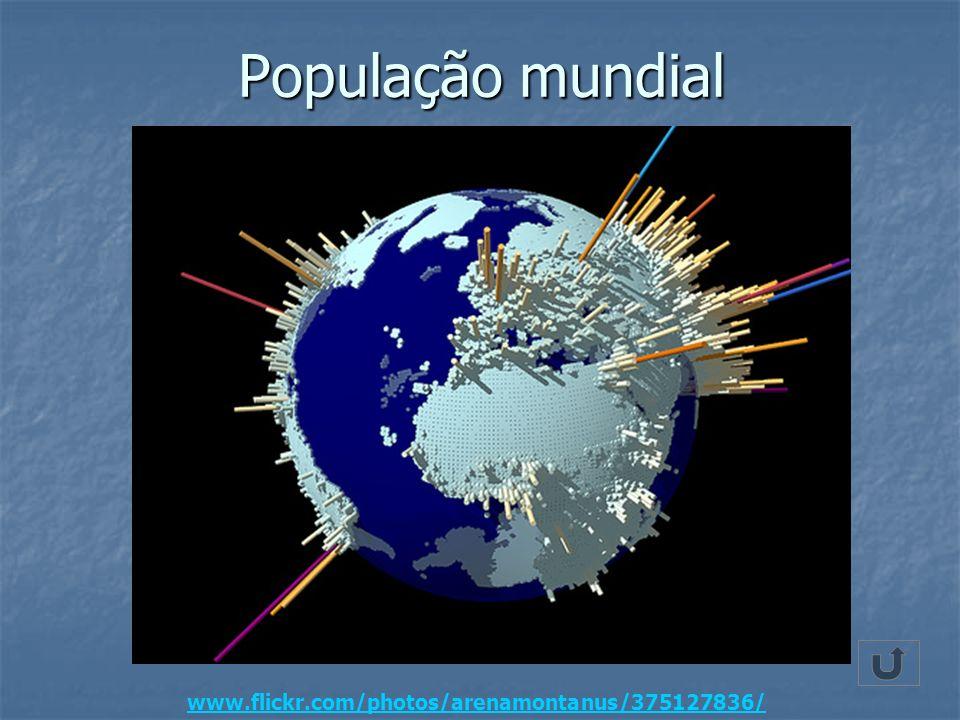 População mundial www.flickr.com/photos/arenamontanus/375127836/