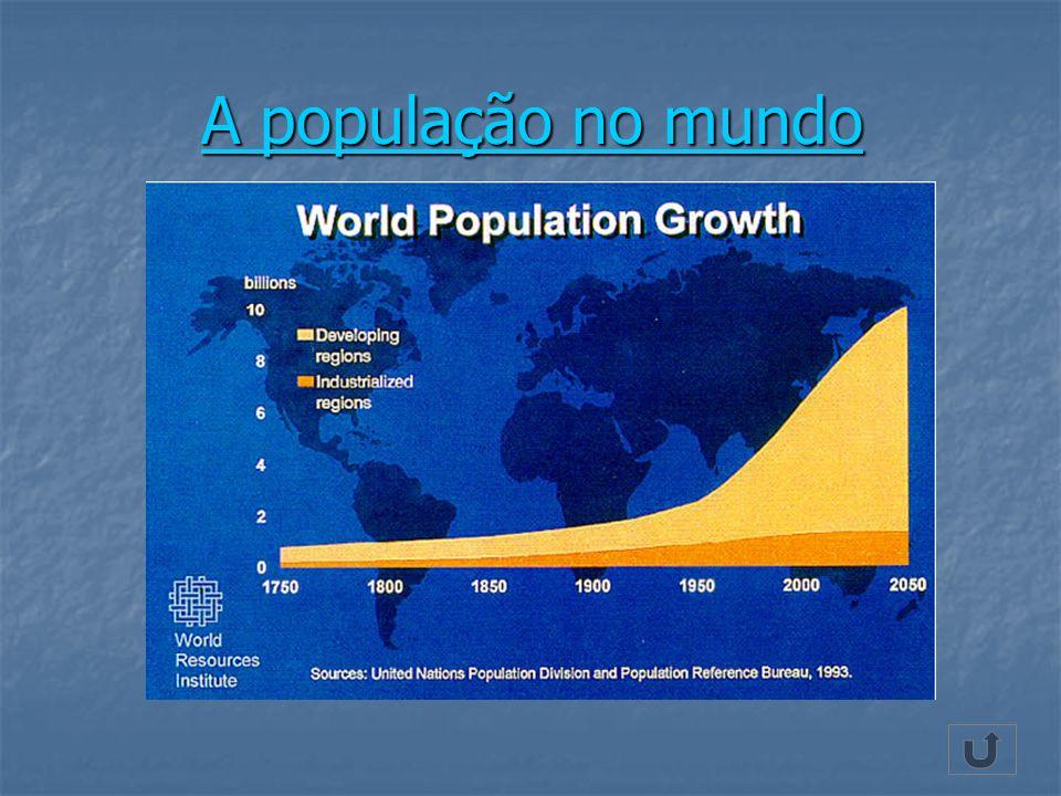A população no mundo A população no mundo