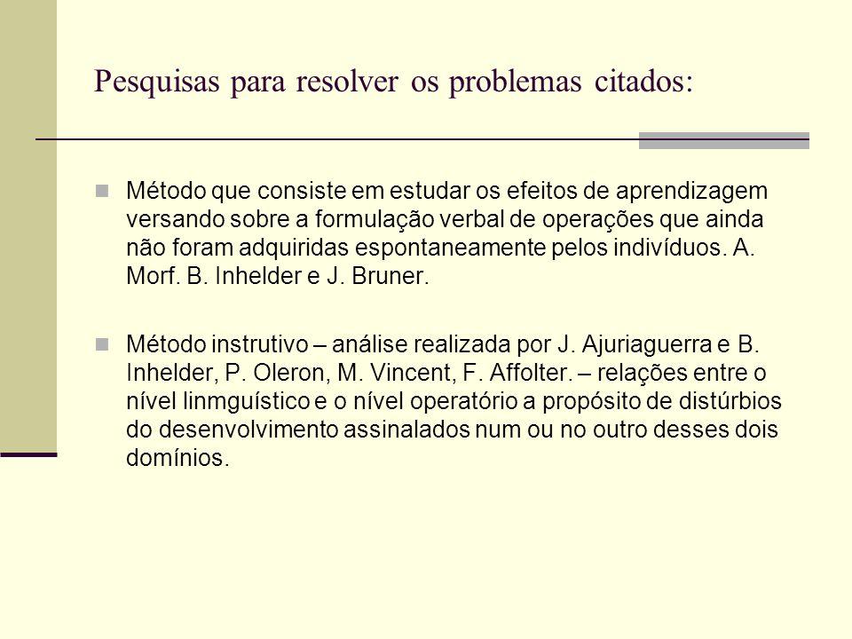 No que concerne aos problemas II: As operações se enraízam nas coordenações das ações elas ultrapassam a linguagem, no sentido que as estruturas opera