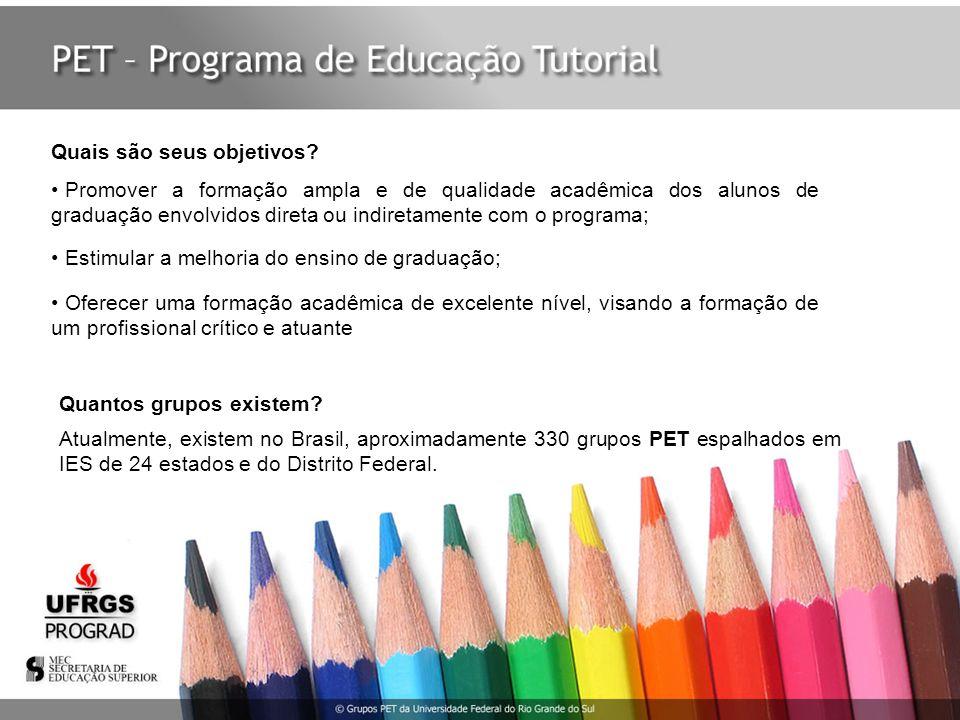 A participação dos graduandos no programa PET significa um inevitável aprimoramento de suas respectivas carreiras acadêmicas, fato que se reflete no grande número de petianos que ingressam nos programas de pós-graduação.
