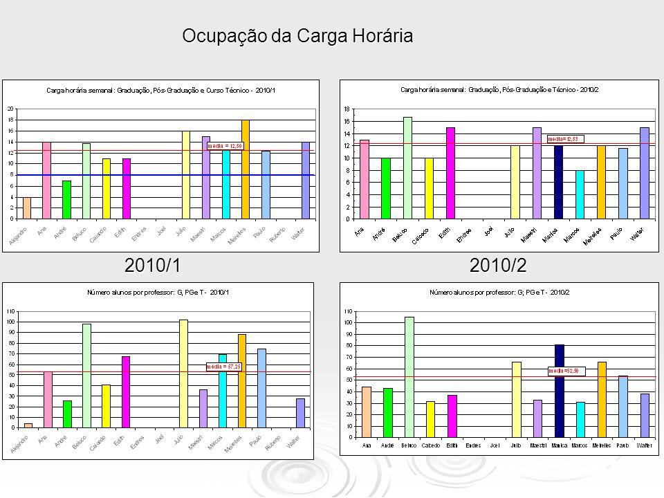 Ocupação da Carga Horária 2010/12010/2