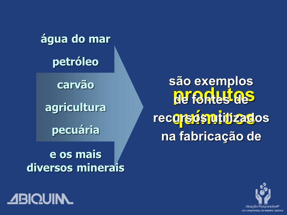 Atuação Responsável ® Um compromisso da Indústria Química Agricultura Defensivos químicos Garantem a qualidade dos alimentos, a produtividade e evitam a disseminação de doenças.
